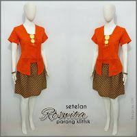 Baju Batik Kerja Wanita, Grosir Batik Solo, Baju Batik Pria: Setelan Roswita, Kebaya Batik, Kebaya Modern