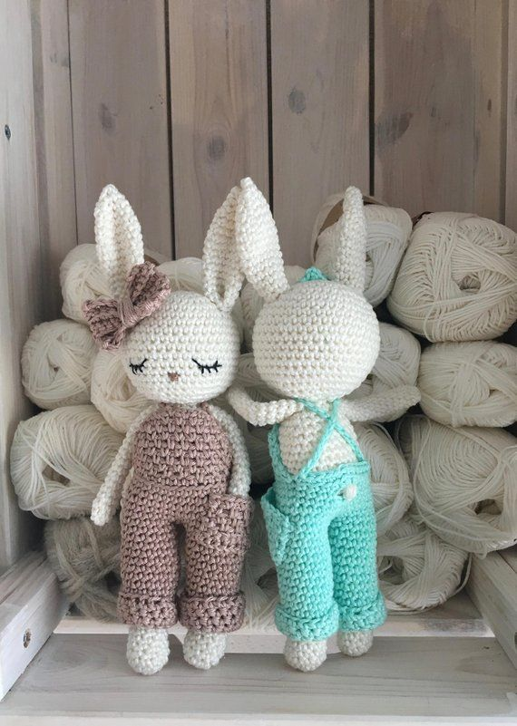 Newborn photo prop or photo session baby boy gift Crochet toy for a baby Personalized crochet bunny Baby rattle bunny Birth gift