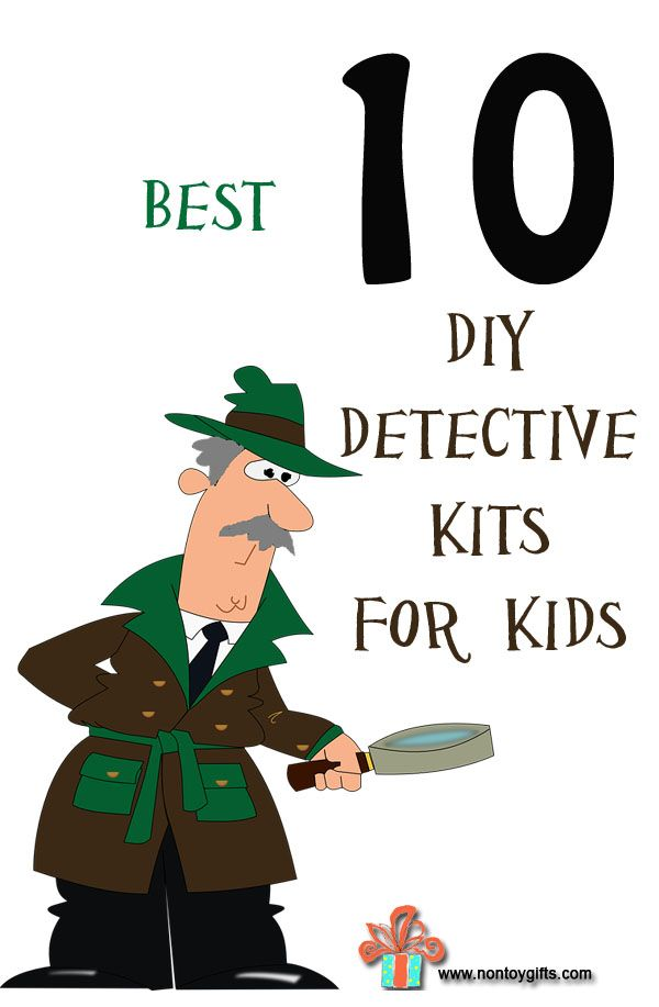Best 10 DIY detective kits for kids - fun and affordable ideas for creating a spy kit. Many of the items included in these kits come from the dollar store. Looking for clues will keep the kids busy for hours. What a fun activity for indoors or outdoors- at Non Toy Gifts