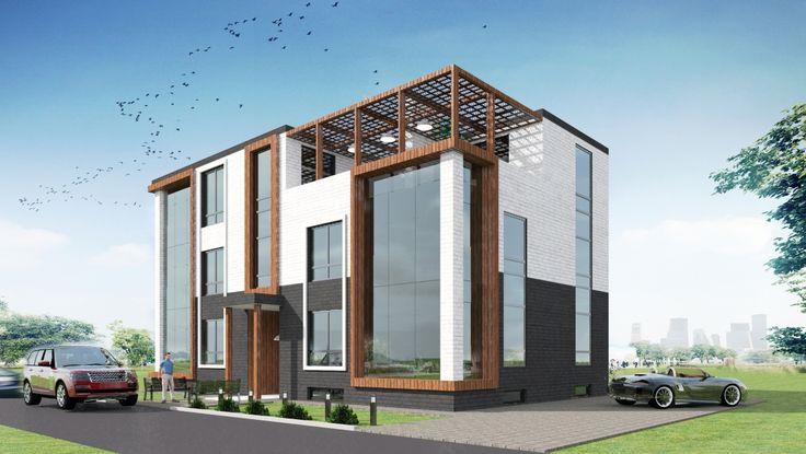 Проект таунхауса на 6 квартир. #townhouse #artpro #arch