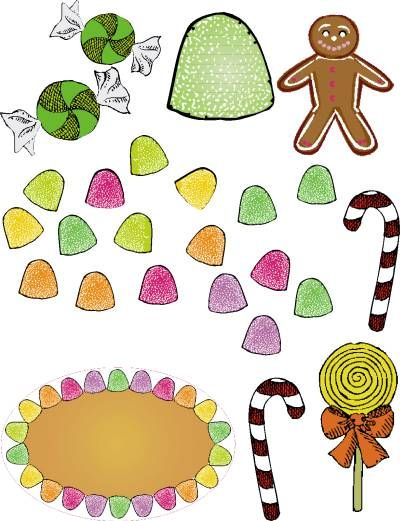 printable gingerbread items - great for christmas ...