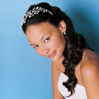 African American Wedding Hairstyles & Hairdos: Long Hairstyle