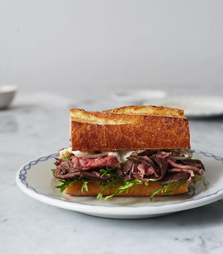 Saturday Sandwich / Herriott Grace: Roast Beef Sandwiches, Food, Sliced Bread 21, Beef Baguette, Roasts, Bread 21 Unexpected, Sandwich Recipes, Cream Recipe