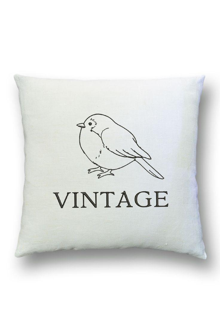 Интерьерная подушка в стиле винтаж. Текстиль в стиле VINTAGE.