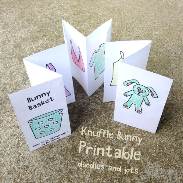Knuffle Bunny Printable - okay this is such a cute book extension printable for kids!
