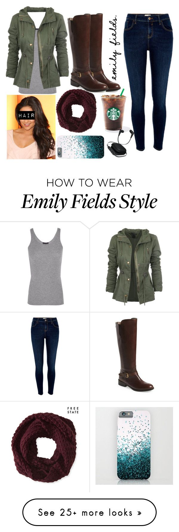 """Emily Fields"" by pandieandbffs on Polyvore featuring ATM by Anthony Thomas Melillo, River Island, Aéropostale, Bella Vita and iWorld"
