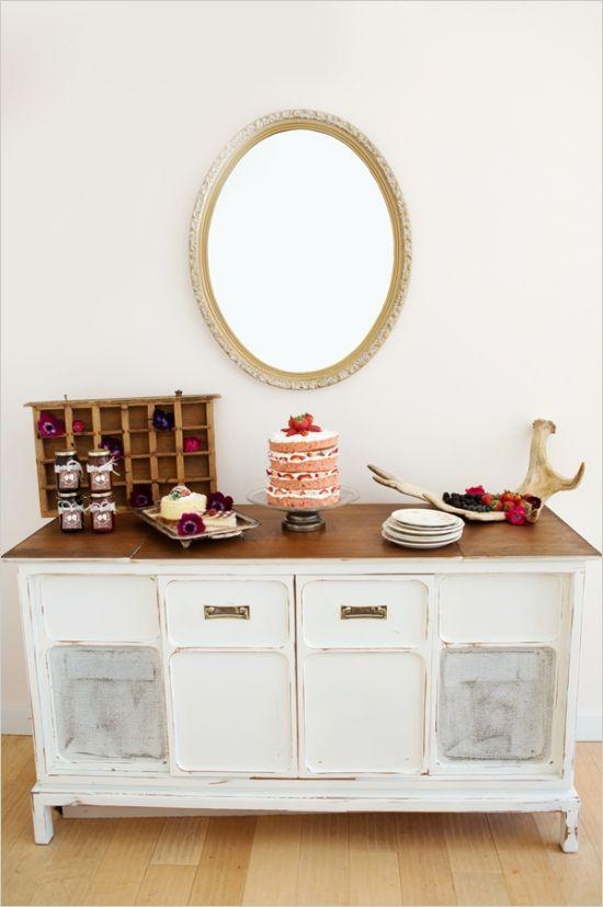 vintage cake table ideas #caketable #vintage #weddingchicks http://www.weddingchicks.com/2014/03/21/bright-bold-berry-wedding/