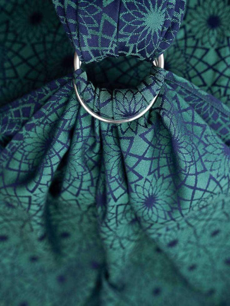 Oscha Oscha Hanabira Aurora Ring Sling Gathered, Silver rings geweven draagdoek. Voor 22:oo uur besteld, vandaag verzonden. Ontdek het prachtige en luxe asso...