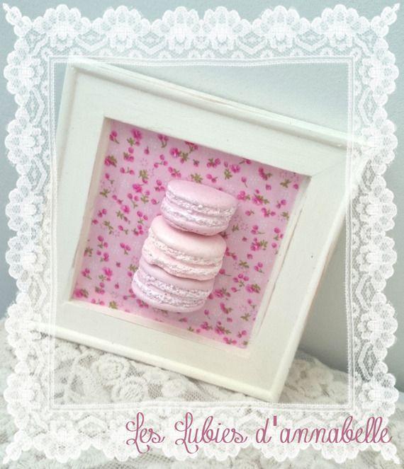 décoration Cadre Style shabby macarons en plâtre