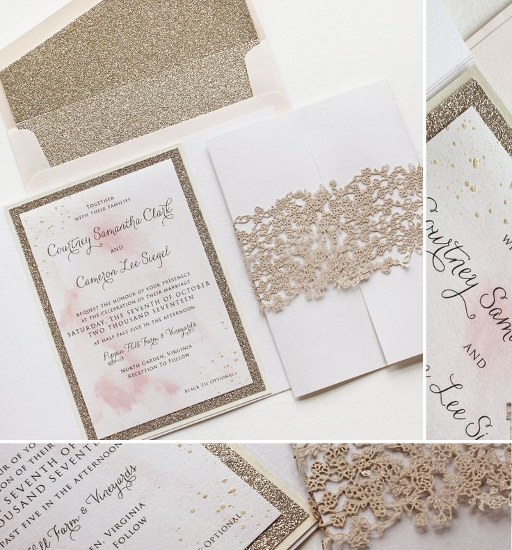 32 best artistic black tie wedding invitations images on pinterest Embossed Wedding Invitations Vancouver courtney c glam save the dates Gold Embossed Wedding Invitations