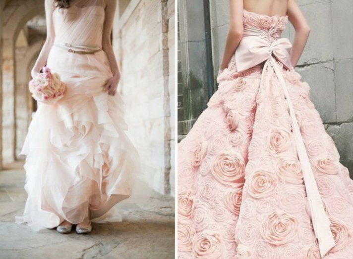 Pale pink rose wedding dress weddings pinterest pink for Antique rose wedding dress
