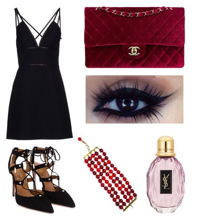 Innocence by chrisandageles on Polyvore featuring polyvore, fashion, style, Prada, Aquazzura and Chanel