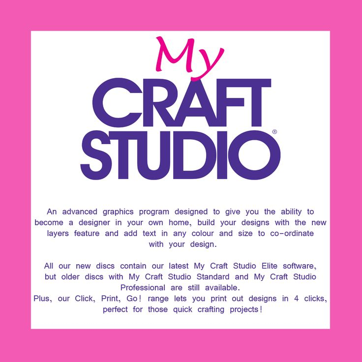 Your one stop craft shop stocking a range of craft products from well known brands such as My Craft Studio. For more information visit www.crafting.co.uk