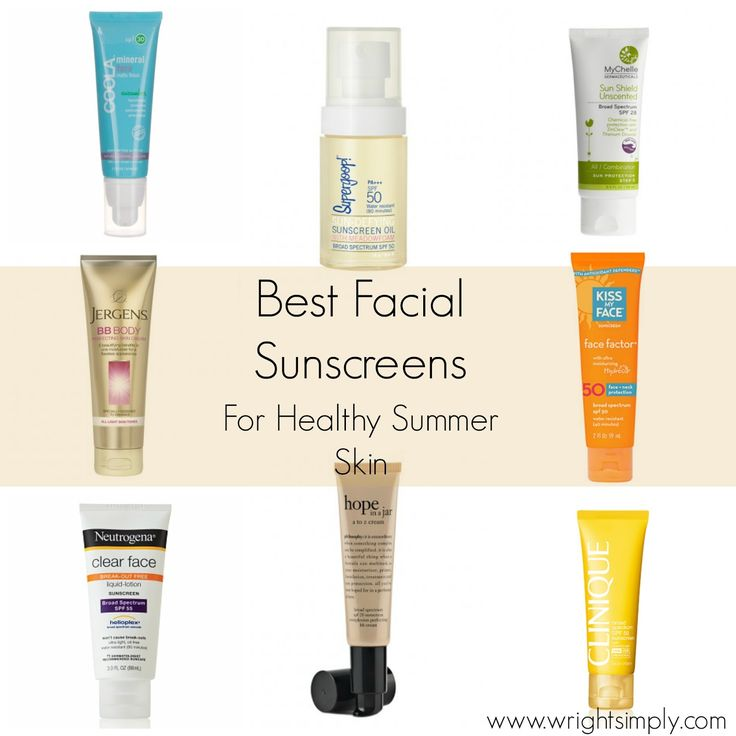 Simply Wright: Best Facial Sunscreens for Healthy Summer Skin