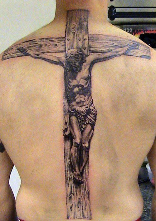 jesus on the cross tattoo by Mirek vel Stotker - 50 Creative Cross Tattoo Designs  <3 !