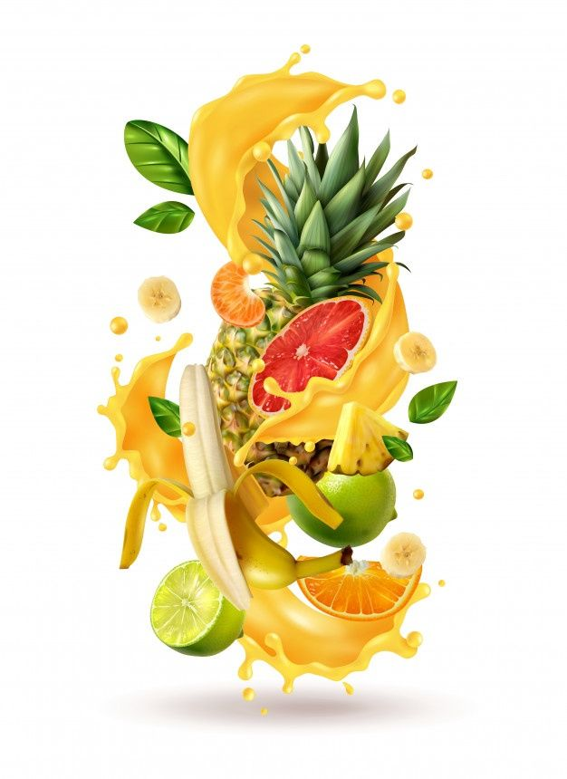 Realistic Ftuiys Juice Splash Burst Comp Free Vector Freepik Freevector Food Abstract Fruit Tropical Tropical Fruits Fruit Splash Fruit Logo
