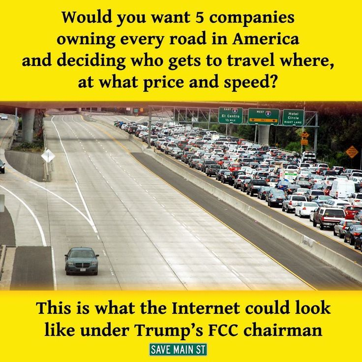 Trump's FCC Chairman wants to gut Net Neutrality.  This will relegate people who can't pay extra to the slow lane of the Internet.