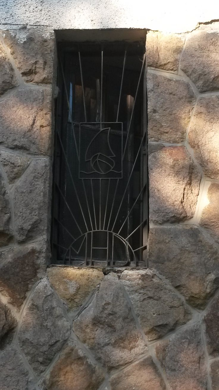 old window with sailing boat