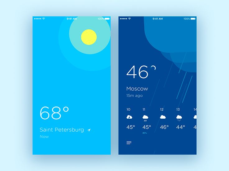 Weather app conceptual design