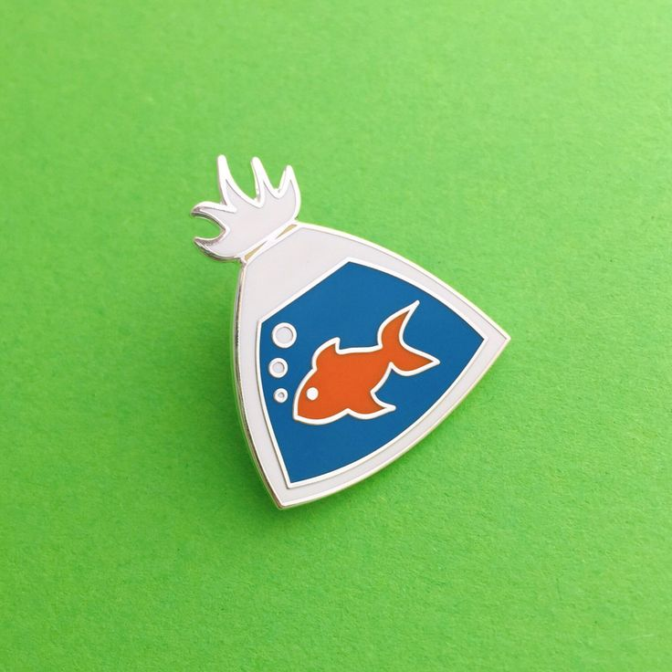 Fish In A Bag Enamel Lapel Pin Badge by fairycakes on Etsy https://www.etsy.com/listing/465606441/fish-in-a-bag-enamel-lapel-pin-badge