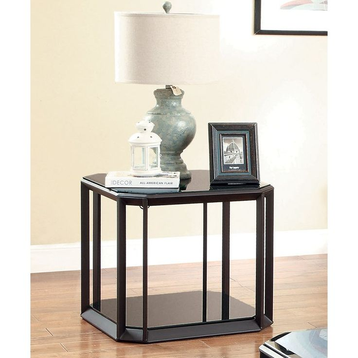 Amazon Coffee Table With Beveled Glass Top And Black Metal: Best 25+ Glass End Tables Ideas On Pinterest