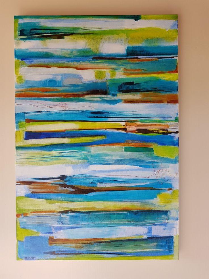 Moody skies #blues#strata#painting#mixedmedium