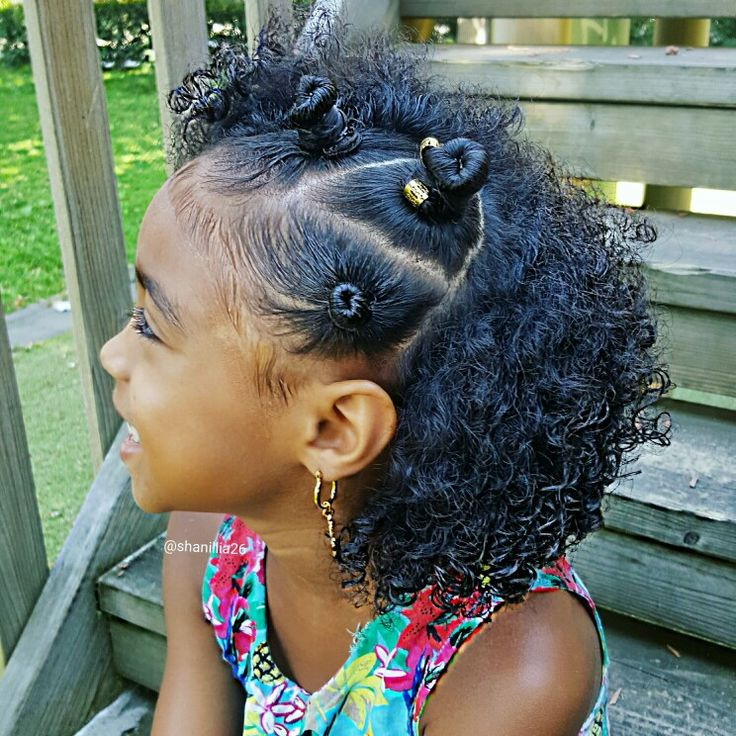 Bantu knots on little girls
