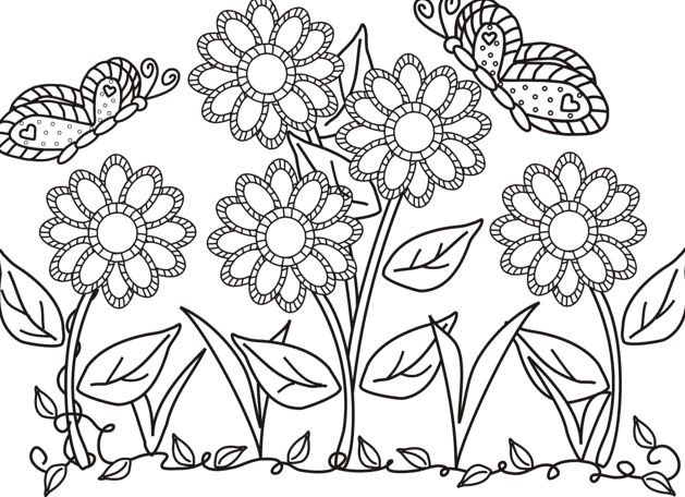 Butterfly And Flower Coloring Pages Free Online Printable Sheets For Kids Get The Latest Images