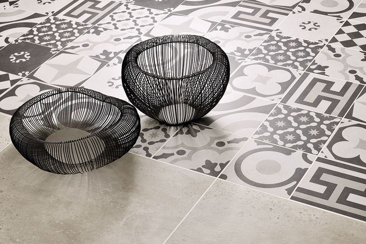 Ceramica Fioranese | #Cementine Black&White collection. #Pavimenti #ceramica, #Floor #tiles, #Ceramic #tiles of #Italy