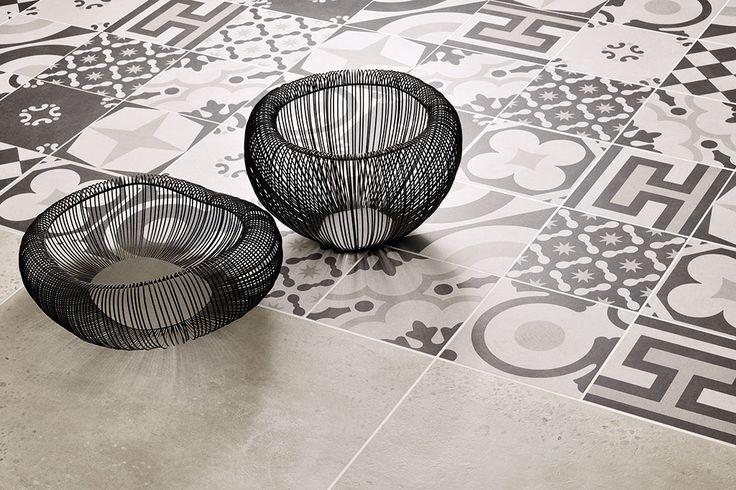 Ceramica Fioranese | #Cementine Black&White collection. #Pavimenti #ceramica, #Floor #tiles, #Ceramic #tiles of #Italy