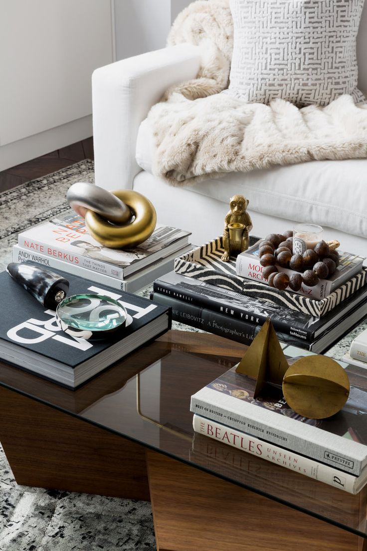 Lindsay Brown Coffee Table Decor Living Room Table Decor Living Room Table Books Decor Living room table accessories