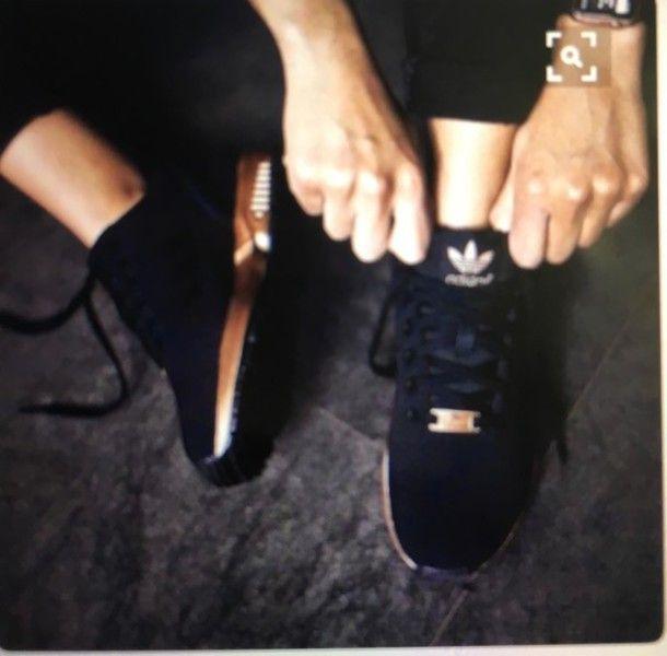 adidas zx flux negras y doradas mujer