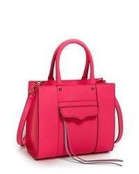 Rebecca Minkoff Mabmini Leather Tote Neon Pink