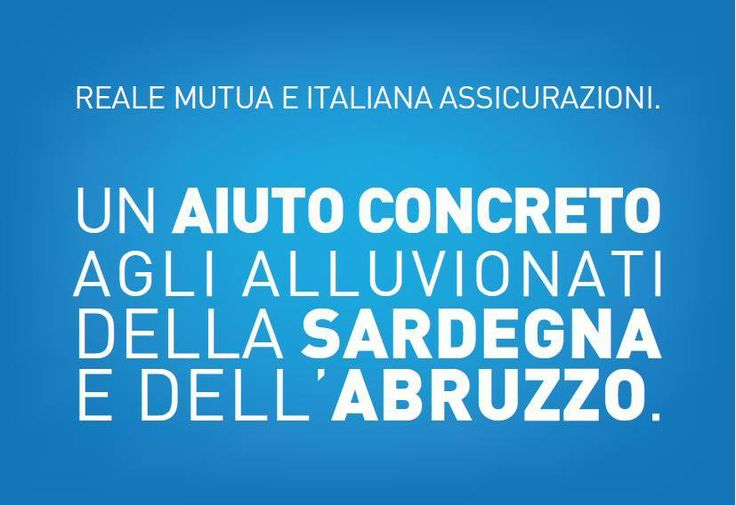 CON VOI. SEMPRE. 500.000 euro alle famiglie e alle imprese clienti che hanno subito danni dalle alluvioni in Sardegna e Abruzzo.