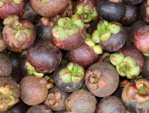 Le mangoustan est un fruit arrondi, de la taille d'une mandarine. Sa peau est épaisse et violacée, surmontée d'un pédoncule vert. L'intérieur du fruit est divisé en quartier plus ou moins irrégulier. Sa chair est blanche, avec un gros noyau lisse dans chaque quartier. Il est juteux, à la fois sucré et acidulé, très rafraîchissant. C'est l'un des fruits les plus succulents que l'on trouve en Thaïlande.