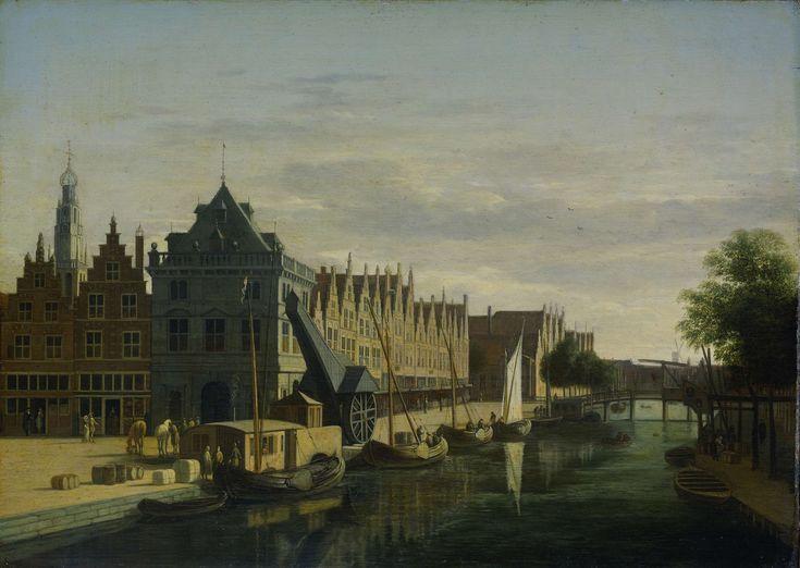 De Waag on Spaarne river, Haarlem (Netherlands), by Gerrit Adriaens Berckheyde, 1660-98