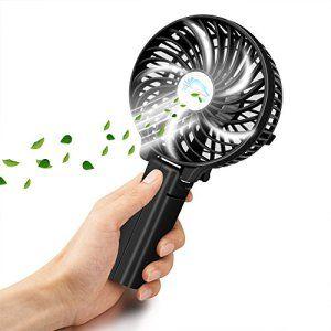 Ventilateur à main VersionTech Mini Electrique Ventilateur Silencieux avec un crochet en V Fan permet de régler la vitesse Ventilateur de…