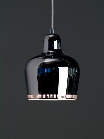 Alvar Aalto, Chrome Bell pendant lamp, 1939.