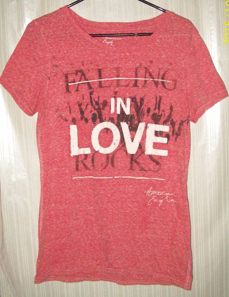 American Eagle Outfitters Juniors Size XL Graphic Pink T Shirt  #AmericanEagleOutfitters #GraphicTee