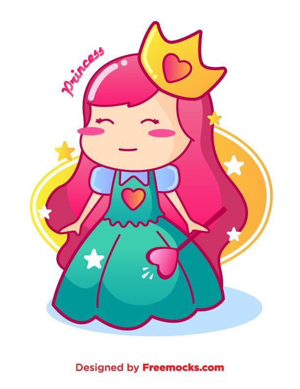 Cute Princess Vector | Freemocks.com