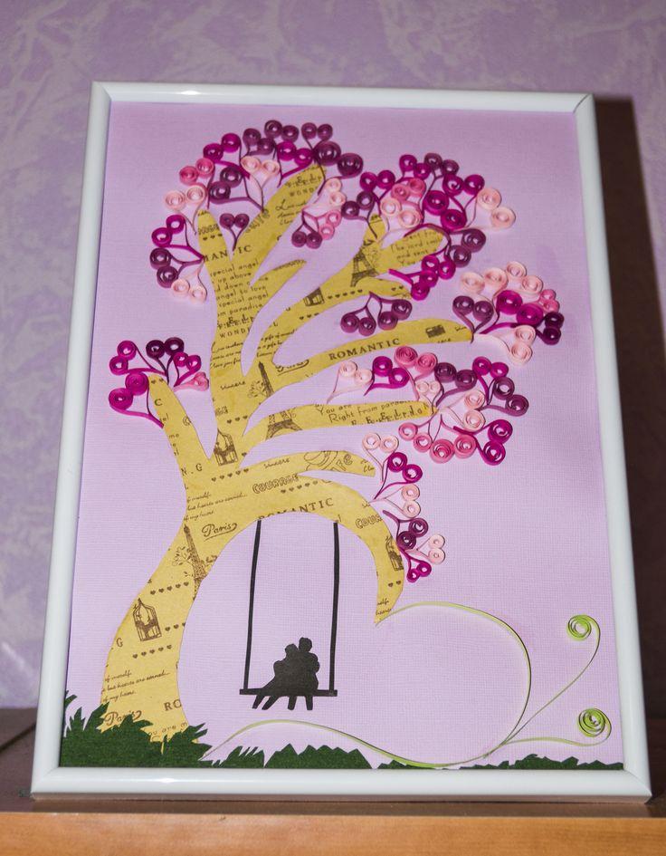quilling, квилинг, дерево любви, love tree