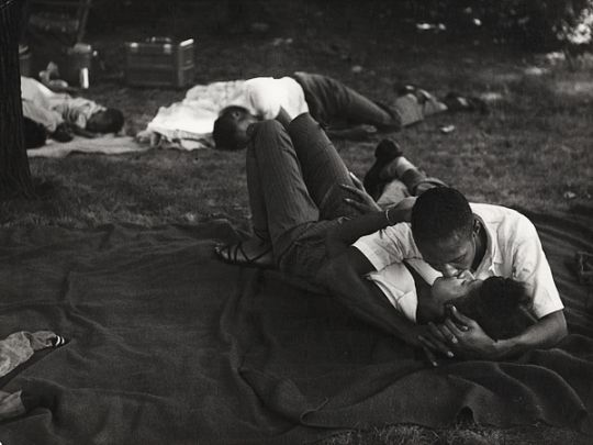 Bear Mountain Park, New York, 1950 by Leon Levinstein