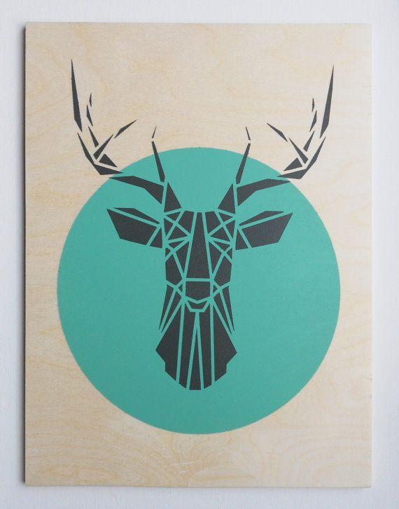 1000 Ideas About Geometric Deer On Pinterest