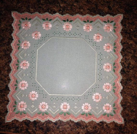 Unique Floral Norwegian Hardanger Centerpiece with by MnMom23, $42.95