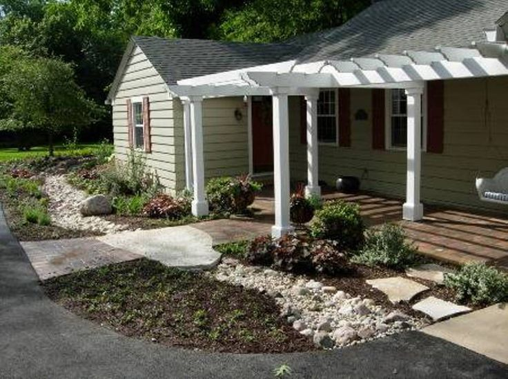 Best 25 front porch pergola ideas on pinterest pergola for Ranch house roof styles