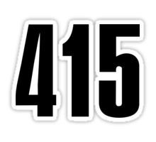 415 San Francisco | Phone Area Code Shirts Stickers Sticker