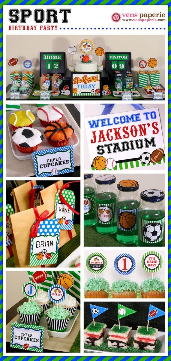 sport birthday party dessert table (www.venspaperie.com)