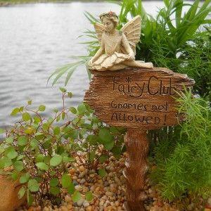 Fairy Club Garden Stake (Fairy Included): Fairy Garden - Baby Feathers - 1