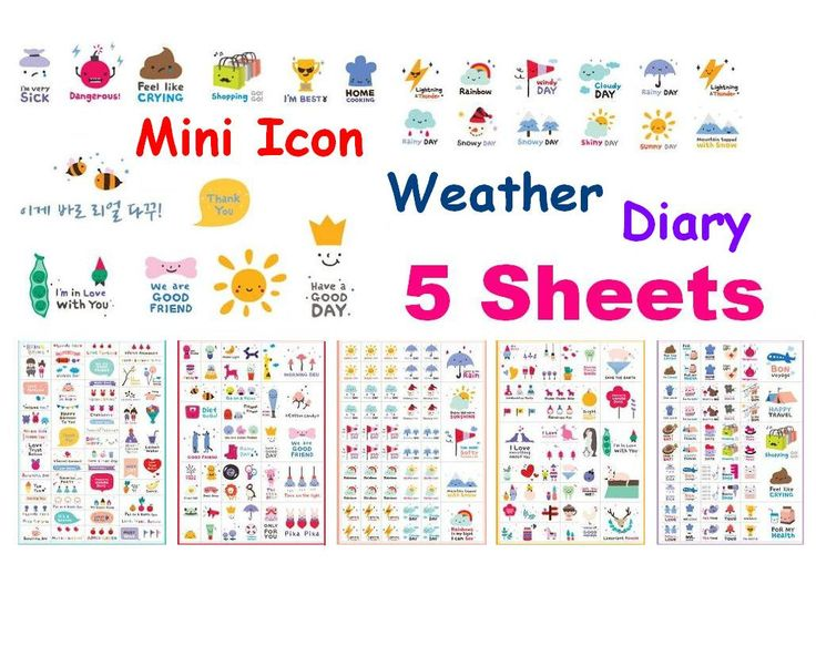 Weather sticker diary icon sticker daily life mini icon sunny rainy day windy snow man Happy simple life label sticker diet planner icon (2.69 USD) by StickersKingdom