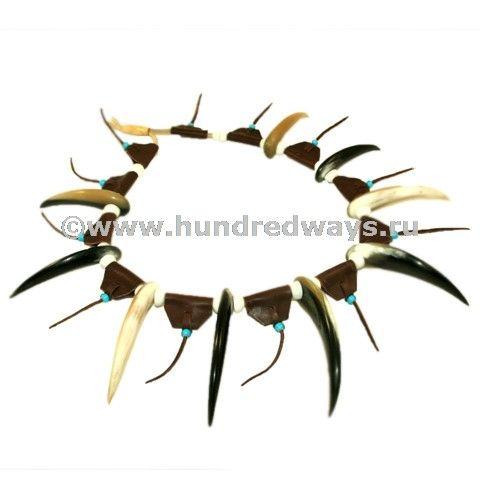 Ожерелье индейское Вождь купить АОВ1 - украшения индейцев - интернет магазин Сто Дорог